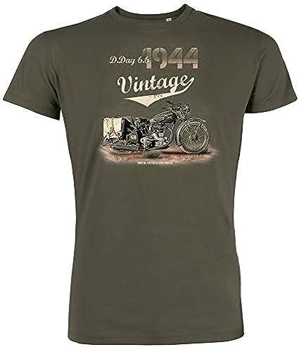 6TN T-shirt de moto vintage pour homme Live to Ride