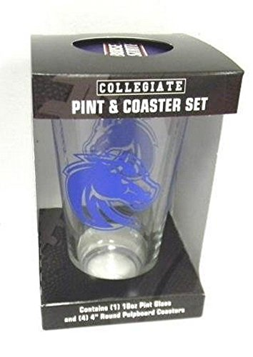 NCAA Officially Licensed Boise State Broncos Pint and Coaster Set (Logo)
