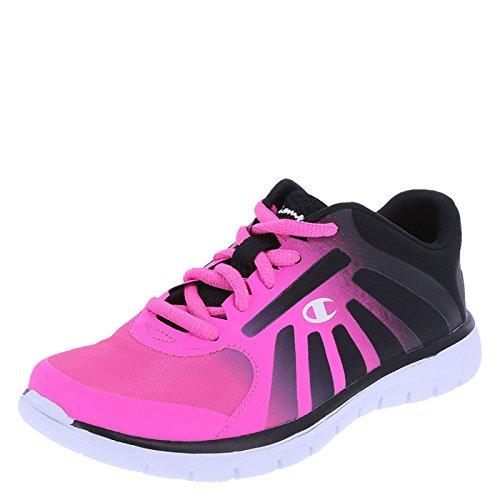 Champion Girls' Pink Blackfade Girls' Gusto Runner 2.5 Regular