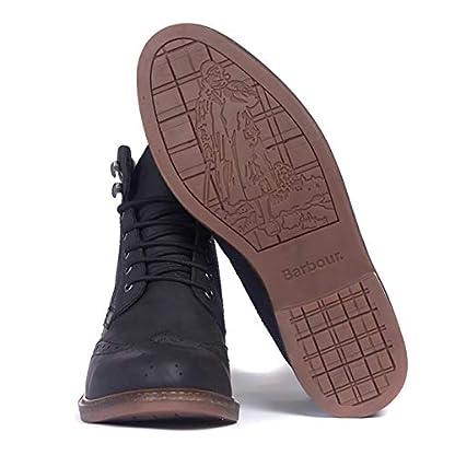 Barbour Mens Seaton Leather Walking Comfort Casual Smart Work Metal Logo Boots - Teak 4