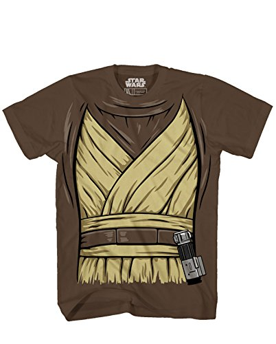 OBI -Wan Ben Kenobi Halloween Costume Luke Skywalker Jedi Yoda Adult Men's Graphic T-Shirt Tee Apparel (3XL) Brown]()