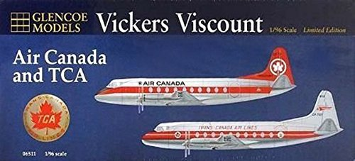Glencoe Vickers Viscount Air Canada and TCA 1:96 Scale Model Kit