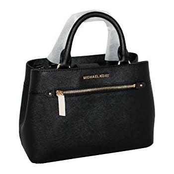 231ae1045a9a MICHAEL Michael Kors Women's HAILEE XSMALL Satchel Leather Handbag BLACK