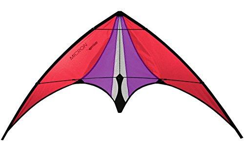 Prism Micron Dual-line Stunt Kite, Red (Stunt Prism Kite)