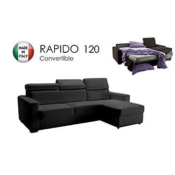 ITALIAN SPIRIT Canapé d angle réversible Ouverture RAPIDO Sidney 120 cm +  Coffre. Têtières 71ac31492468