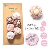 BALLMIE Cat Toys Ball Cat Paw Balls for Cats, Catnip Handmade Felt Wool & Yarn