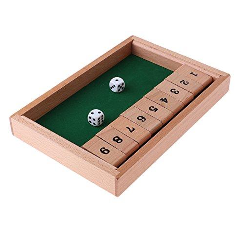 Baosity 木製 シャットダウンボックス ボードゲーム ダイス ナンバーゲーム の商品画像