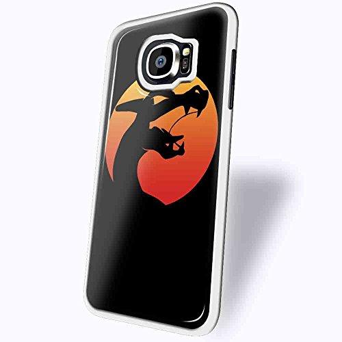 Charizad Dragon Mortal Kombat X for Samsung Galaxy S6 Edge White case (Mortal Kombat Cartoons)