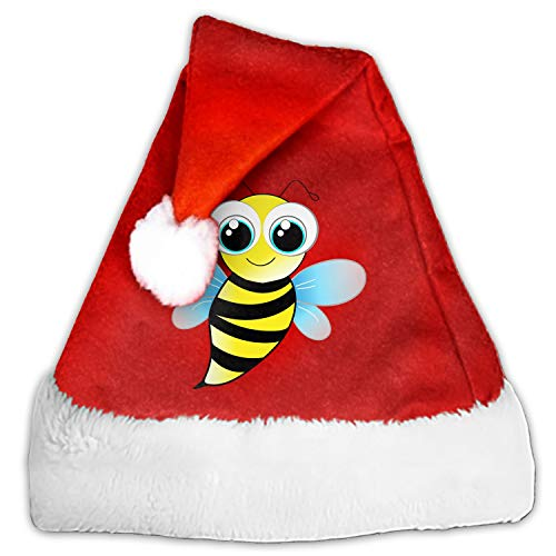 Bee Cute Santa Hat-Christmas Costume Classic Hat for Adult ()