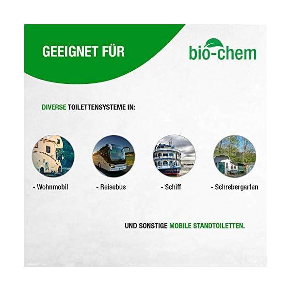 417uGtnID4L Bio-Chem Sanitärzusatz/Bio Sanitärflüssigkeit für Campingtoilette Konzentrat für Camping-Toilette, Chemietoilette…