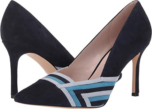Nine West Womens Eugene Pump French Navy/Sea Blue/Ice Blue 9.5 M