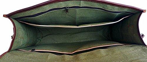 Bolso bandolera de piel bolsas de cuero para hombres y mujeres, Vintage negocios maletín para portátiles y libros ~ hecho a mano, robusto & envejecido ~ auténtica Retro...