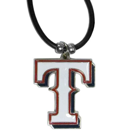 - Texas Rangers MLB Rubber Cord Necklace