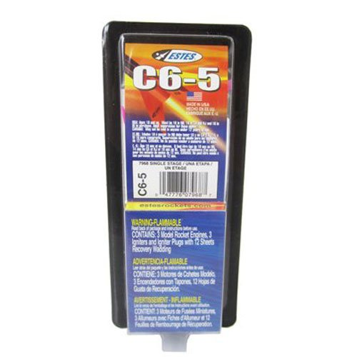Estes 7968-1 C6-5 Flight Pack Model Rocket Motor