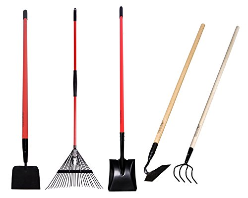 Awesome Amazon.com : GardenAll Garden Tools Kit   Include Round Point Shovel /12  Guage Garden Hoe / Bow Rake With Fiberglass Handle : Patio, Lawn U0026 Garden