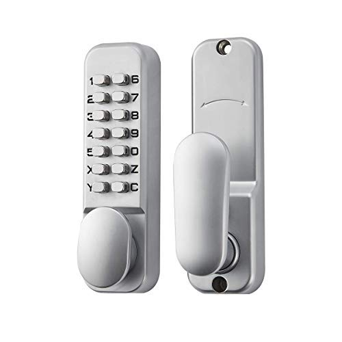 SPOTACT ML101 Keyless Door Lock Mechanical Code Lock Retro Style 6 Code Lock, Suitable for Garage/Hotel/Office/Studio/Warehouse/File Archives ()