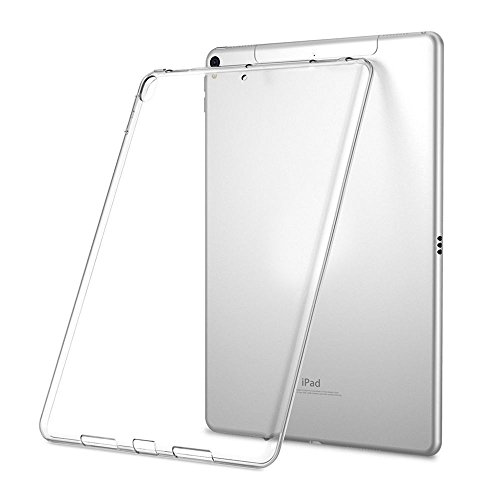 LEDNICEKER Case for New iPad 9.7 2018/2017 Model - Light Weight Shock Proof Ultra-Thin Impact Resistant Flexible Soft Transparent TPU Case for iPad 9.7-inch 2017/2018 Latest Gen (iPad 5 & 6) - Clear