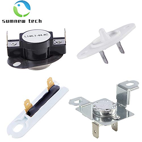 279973 & 3392519 & 8577274 Dryer Thermal Cut-Off Fuse Kit with Thermistor Control and Thermal Fuse Replacement Part - Compatible with Whirlpool & Kenmore Dryers