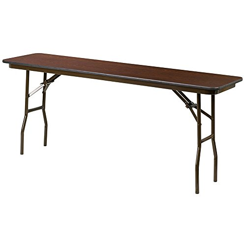 Commercial Folding Table For Training Room Break Room Conference Room Lecture Hall or Lounge Area Rectangular Laminate Top Metal Leg Utility Hobby Table & eBook by BADA ()