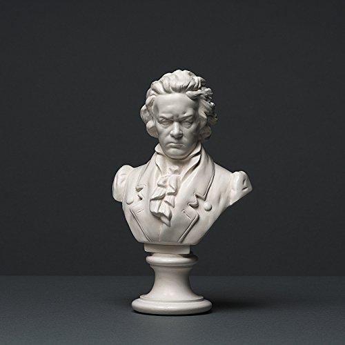 Alex Agwanjan Beethoven - Scultura in cellulosa di Alta qualità , Realizzata a Mano in Germania, Busto Bianco, 20 cm