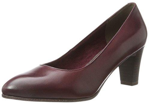 Tamaris Women's 22422 Closed-Toe Pumps, Black, 8 UK Red (Bordeaux)
