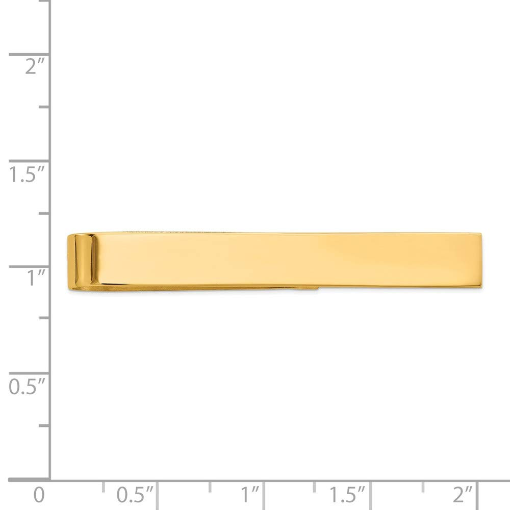 14K Yellow Gold Polished Engravable Tie Bar Clip by Accessory Tie Bar (Image #4)
