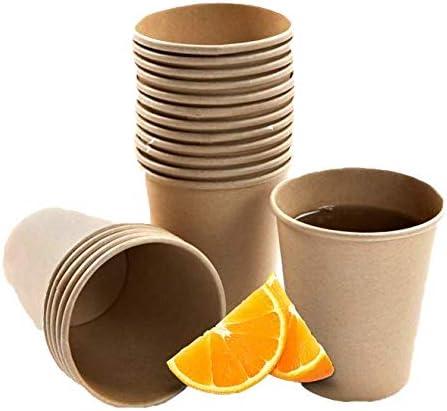 1000 uds BIODEGRADABLES 8 oz 8oz VASOMADRID 1000 Vasos CAF/É Desechables Color Kraft 240 ml ECOLOGICOS Fabricado en Espa/ña.