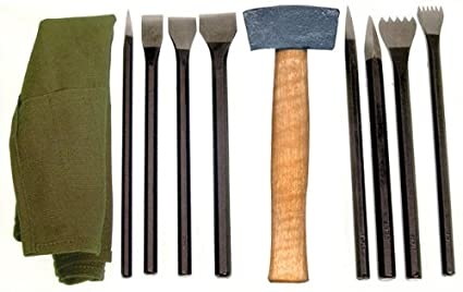 Amazon national stone carving set has tools in a convenient