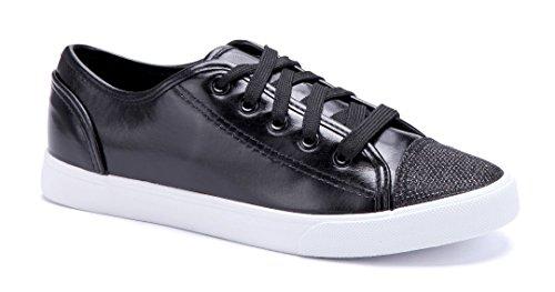 b2e936f7e3a4bf Schuhtempel24 Damen Schuhe Low Sneaker Flach Schwarz - engel-ohne ...