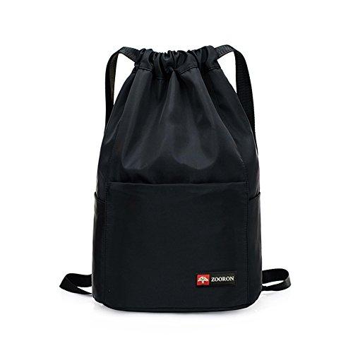 (ZOORON Waterproof Drawstring Gym Backpack Bag for Men & Women, Dry Wet String Backpack Swim Beach Travel)