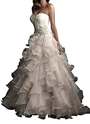 Yxjdress Women Long Bridal Gowns Unique Ball Gowns Wedding Dresses
