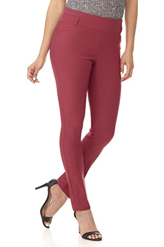 Rekucci Women's Ease in to Comfort Fit Stretch Slim Pant (18,Desert Rose)