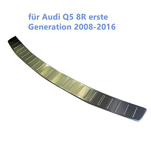 Esterno Matt strisce bagagliaio posteriore coprilampo Styling di acciaio Inossidabile per Q5/8R prima generazione 2008/ /2016