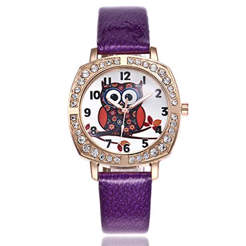 The Best Gift!!Aries Esther 2019 Fashion Lurury Classic New Cute Owl Women Fashion Leather Band Analog Quartz Round Wrist Watch Watches Birthday Gift