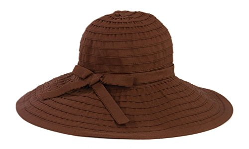 San Diego Hat Company Women's Large Brim Hat O/S Brown