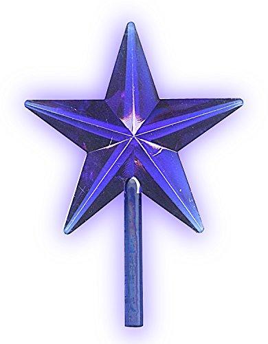 National Artcraft Transparent Blue Stars for Ceramic Christmas Trees (5 Pcs)
