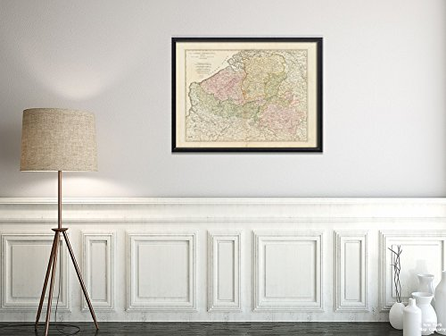 New York Map Company (™) 1772 Map Belgium Luxembourg The Catholic Netherlands, divided into their several provinces with the Historic Antique Vintage Reprint Ready to Frame by New York Map Company (TM)