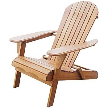 Outdoor interiors cd3111 eucalyptus adirondack chair and built in ottoman garden for Outdoor interiors eucalyptus rocking chair