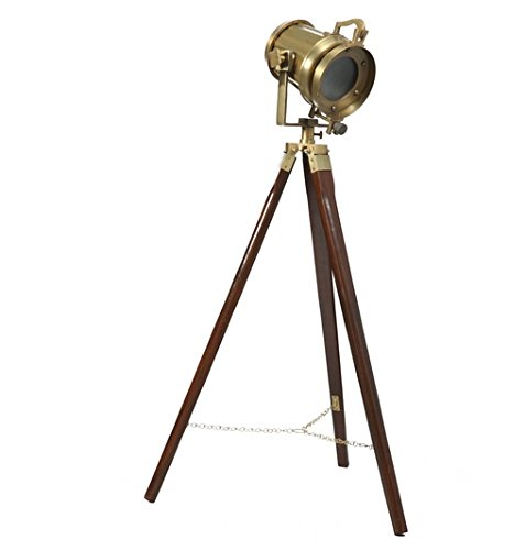 Antique Spot Search Light Lamp W/Tripod Stand - Spot Floor Lamp