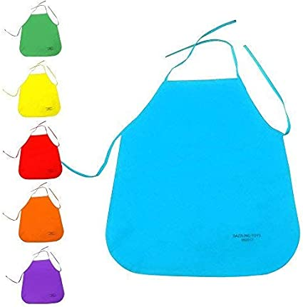Crafts and Art Painting Activity Applied in Kitchen Community Event Classroom Caydo 6 Pack Middle Size Fabric Aprons for 5-10 Years Old Kids