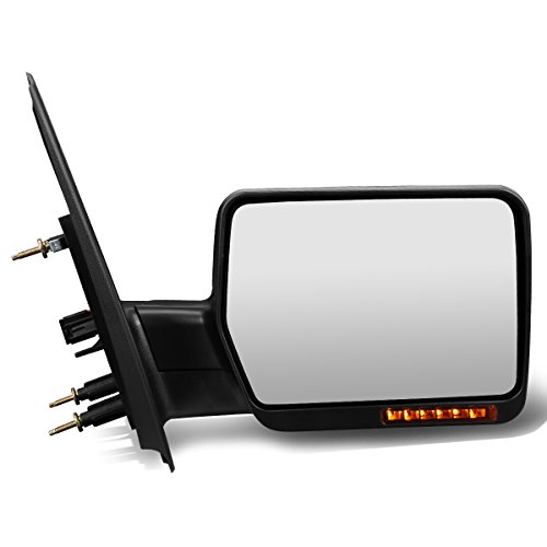 Ford F-150 Black Powered + Signal + Manual Extendable Side Towing Mirrors (Right)