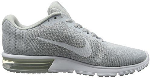 Air Sequent Max Wolf Mens White Metallic Nike Platinum Grey Platinum Shoes Running 2 dxHwd1
