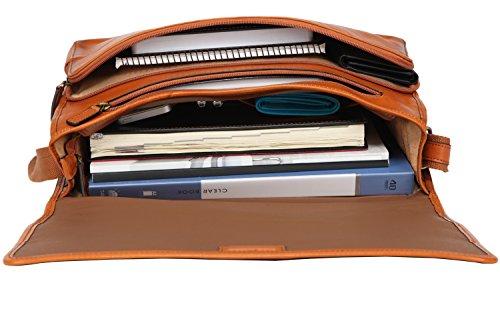 Banuce Vintage Leather Messenger Bag for Men 14 Laptop Business Crossbody Shoulder Satchel Bag by Banuce (Image #5)