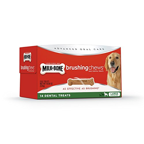 Milk-Bone Advanced Oral Care Brushing Chews Daily Dental Dog Treats
