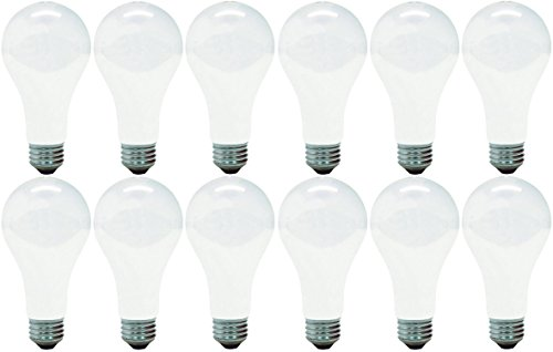 GE Lighting 10429 Soft White 150-Watt, 2680-Lumen A21 Light Bulb with Medium Base, 12-Pack (Medium Bulb Base A21 150w)