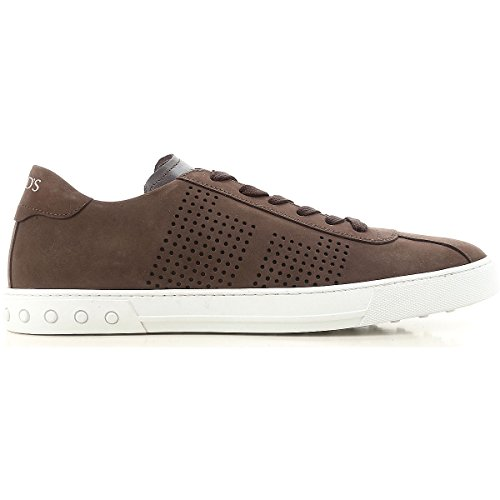 Tods Uomo Sneaker in Nabuk con Dettagli Traforati Mod. XXM0XY0X990D6YS800 Marrone