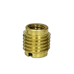 Amazon Com Brass Dual Threaded Insert For Wooden Tap