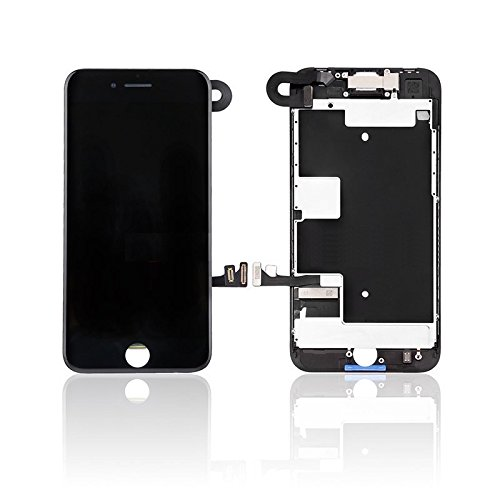 iPhone 8 4.7'' Full Screen Replacement LCD Touch Assembly Front Camera Earpiece Speaker Shield Plate with Frame Adhesive and Repair Tools (Black) by JC Mobile Parts (Image #1)