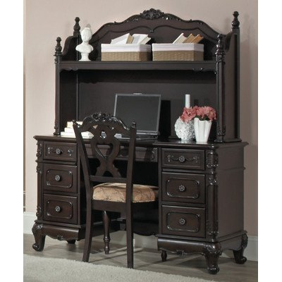 Homelegance Cinderella Writing Desk in Dark Cherry