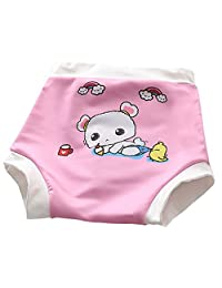 Decdeal Baby Swim Diapers Toddler Waterproof Leakage-Proof Reusable Cartoon Swimming Nappy 0-3 Years Old